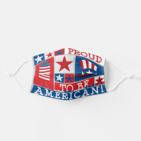 Proud to be American USA 4th of July Funky Pattern Cloth Face Mask