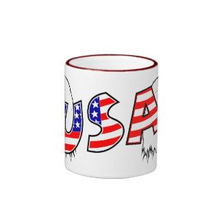 Proud to be American - USA Ringer Mug