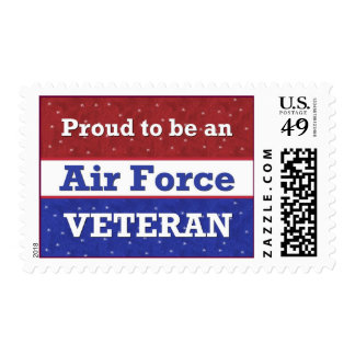 Proud to Be an Air Force Veteran Postage