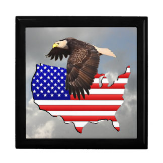 PROUD TO BE AN AMERICAN 2 JEWELRY BOX