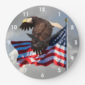 PROUD TO BE AN AMERICAN 2 LARGE CLOCK