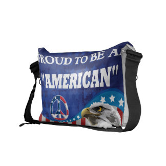 PROUD TO BE AN AMERICAN COURIER BAG