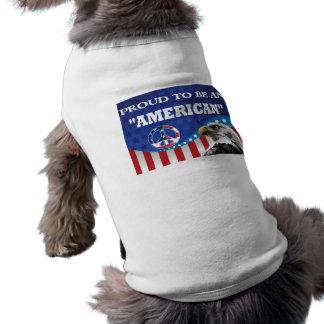 PROUD TO BE AN AMERICAN DOG TEE SHIRT