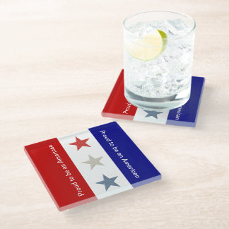 Proud to be an American Glass Coaster