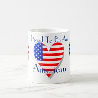 Proud To Be An American Heart Mug