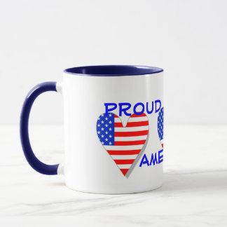 Proud To Be An American Hearts Mug