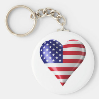 Proud To Be An American Keychains