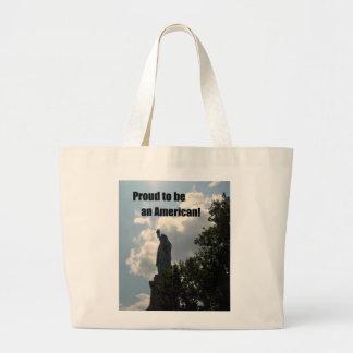Proud to be an American Large Tote Bag