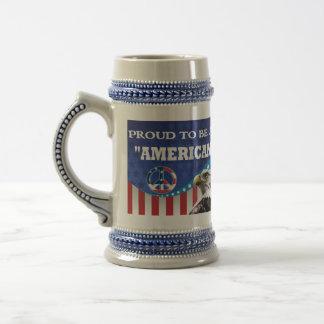 PROUD TO BE AN AMERICAN COFFEE MUGS