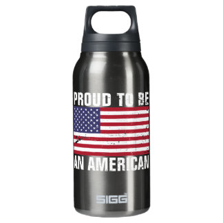 Proud to be an American - Patriotic Insulated Water Bottle