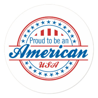 Proud to Be An American Patriotic Invitation