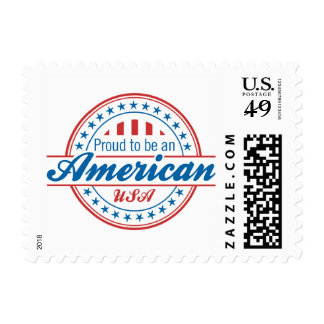 Proud to Be An American Patriotic Postage Stamps