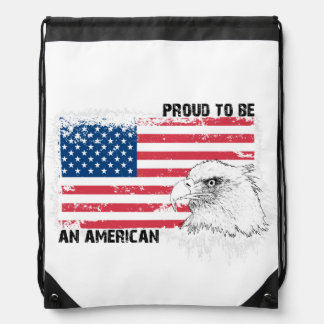 Proud to be an American Drawstring Backpack