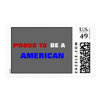 "*Proud to be an American"" Stamp"