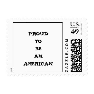 """Proud to be an American"" Stamps"