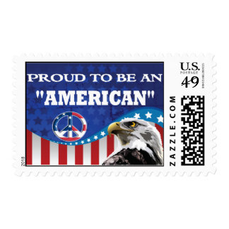 PROUD TO BE AN AMERICAN POSTAGE STAMP