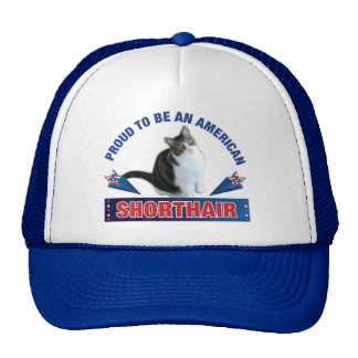 Proud To Be An American Shorthair Cap Trucker Hat