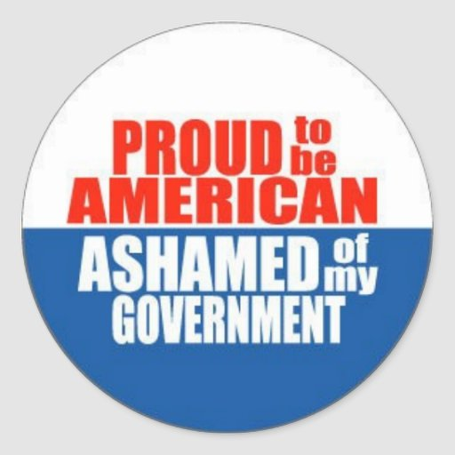 Proud to be an American Round Sticker