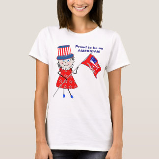 PROUD to be an AMERICAN - T-SHIRT - MELODY/FLAG