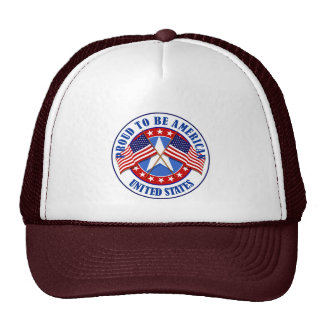 Proud To Be An American Trucker Hat
