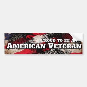Proud to be an American Veteran Bumper Sticker