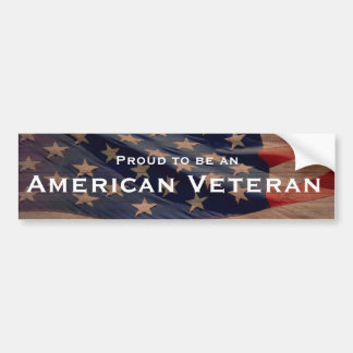 Proud to be an American Veteran Bumper Stickers