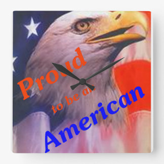 Proud to be an American Wallclock