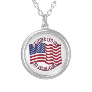 Proud To Be An American With USA Flag Custom Necklace