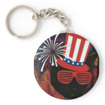 Proud to be an Americat keychain