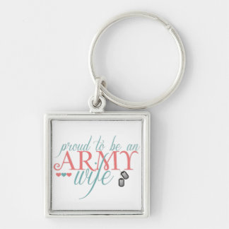Proud to be an Army Wife - Keychain