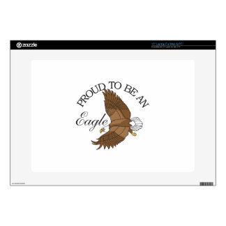 """Proud to Be an Eagle 15"""" Laptop Decal"""
