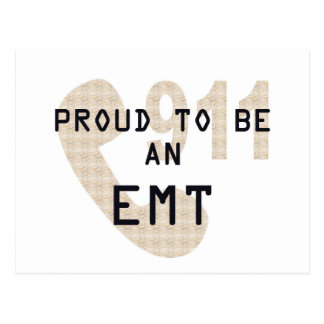 PROUD TO BE AN EMT POSTCARDS