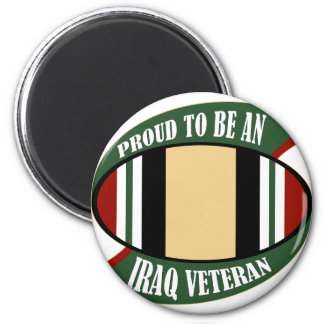 Proud To Be An Iraq Veteran 2 Inch Round Magnet