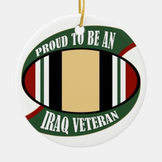 Proud To Be An Iraq Veteran Ceramic Ornament