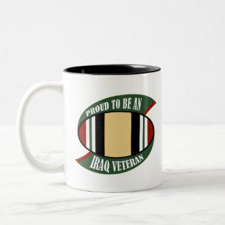 Proud To Be An Iraq Veteran Two-Tone Coffee Mug