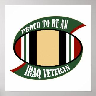 Proud To Be An Iraq Veteran Poster