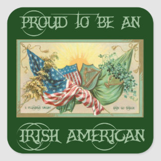 Proud to be an Irish American Sticker