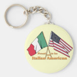 Proud To Be An Italian-American Basic Round Button Keychain