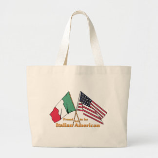 Proud To Be An Italian-American Large Tote Bag