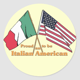 Proud To Be An Italian-American Round Stickers