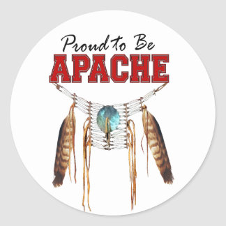 Proud to be Apache Classic Round Sticker
