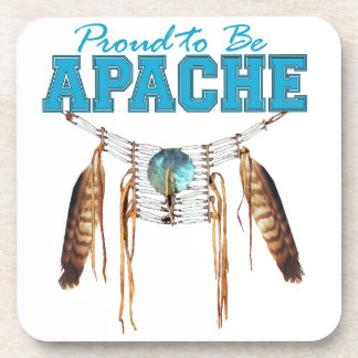 Proud to be Apache Beverage Coaster