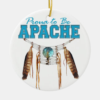 Proud to be Apache Double-Sided Ceramic Round Christmas Ornament