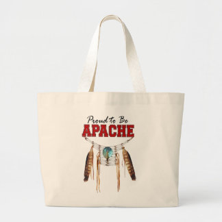 Proud to be Apache Large Tote Bag