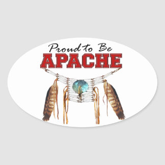 Proud to be Apache Oval Sticker