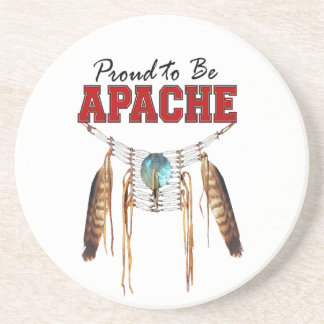Proud to be Apache Sandstone Coaster