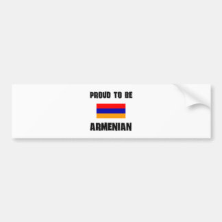 Proud To Be ARMENIAN Bumper Sticker