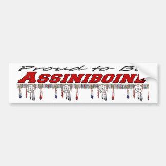 Proud to be Assiniboine Bumper Sticker