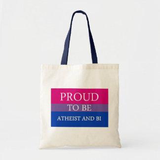 Proud To Be Atheist and Bi Tote Bag
