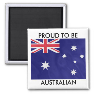 Proud to be Australian 2 Inch Square Magnet